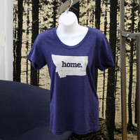 Montana Home. Tshirt Womens Cut by HomeStateApparel on Etsy