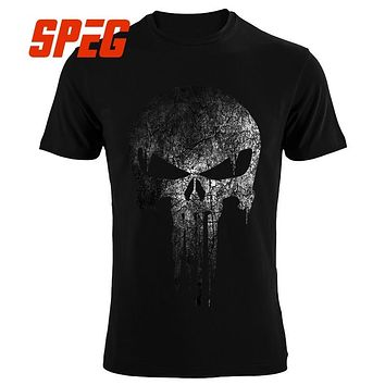 07dbed063595f4 The Punisher Skull hip hop Supper Hero t shirts Men T-Shirt tops tees brand