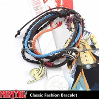 Fairy Tail Lucy Natsu Dragneel Guild Sign Chain Modern Wrist Bracelet Pendant