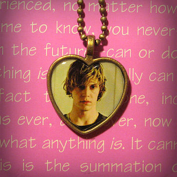 Tate Langdon Evan Peters American Horror Story Coven ( Kyle Spencer) AHS pendant necklace