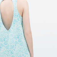 Jacquard dress with low back