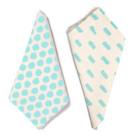 Polka Dots & Dashes Napkin Set- Sky Blue