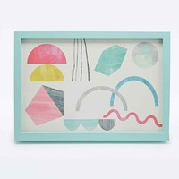 Shapes Play Framed Wall Art - Urban Outfitters