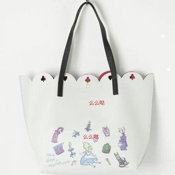 New Fashion Genuine Alice in wonderland Totes Bag Wallet Belle Princess Handbag Girls Cartoon Shoulder Bag For Girls Gifts