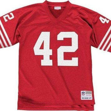 San Francisco 49ers Mitchell & Ness 1990 Ronnie Lott #42 Replica Throwback Jersey