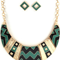 Aztec Necklace and Earring Set
