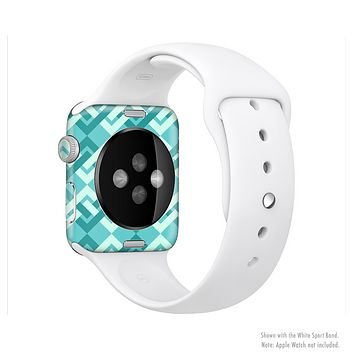 The Locking Green Pattern Full-Body Skin Set for the Apple Watch