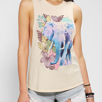 Urban Outfitters - Corner Shop Elephant Garden Muscle Tee