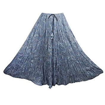 Womens Medieval Skirts Printed Designer Crinkle Purple Flare Maxi Skirts: Amazon.ca: Clothing & Accessories