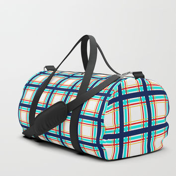 Checkered pattern on a transparent background. Duffle Bag by albert12001