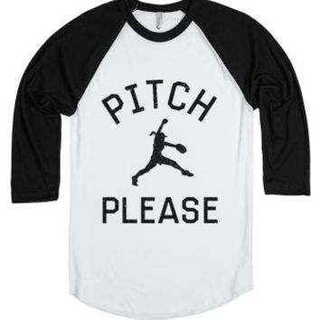 Pitch Please-Unisex White/Black T-Shirt
