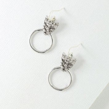 The Panther Earrings - Silver