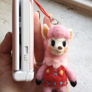 Reese Animal Crossing New Leaf Plush or 3DS Charm