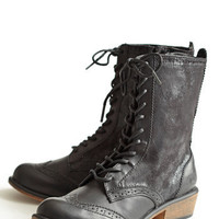 Distressed Paxton Lace-Up Boots - $68.00: ThreadSence, Women's Indie & Bohemian Clothing, Dresses, & Accessories