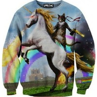 ☮♡ Unicorn Cat Pixel Sweater ✞☆