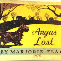 ANGUS LOST By Marjorie Flack ~ Rare Vintage Children's Book 1930's First 1st Ed