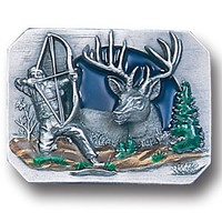 Bow hunter Enameled Belt Buckle