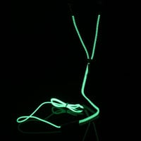 Glow in the Dark Metal Zipper Earphones