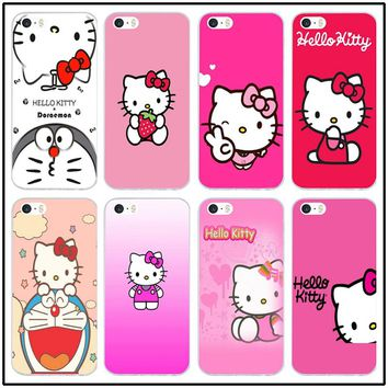 Soft TPU Silicone Mobile Phone Cases Hot Bear Hello Kitty Kt Funny for iPhone 8 7 6 6S Plus X 5 5S SE 5C 4 4S Cover Shell