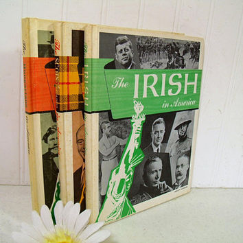 The Irish in America; The Scots & Scots-Irish in America; The Hungarians in America Set of 3 In America Series Vintage School Library Books