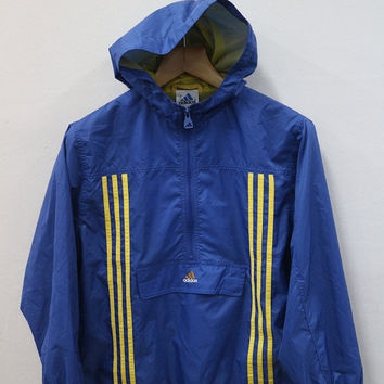 25% SALES Vintage 90's Adidas Sport Hooded Sweater Logo Windbreaker Trainer Nylon Jacket Windbreaker