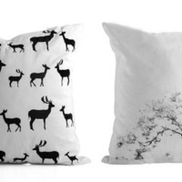 Two Cushions Covers, Any two Cushions Covers in a special price, White pillows.