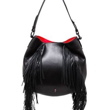 CHRISTIAN LOUBOUTIN | Luckyl Fringed Leather Bag | brownsfashion.com | The Finest Edit of Luxury Fashion | Clothes, Shoes, Bags and Accessories for Men & Women