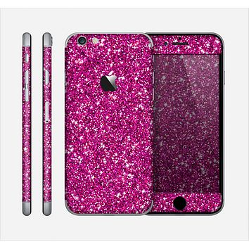 The Bright Pink Glitter Skin for the Apple iPhone 6
