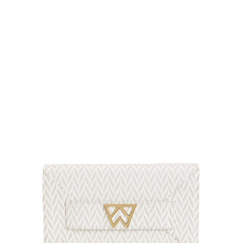 Forever Classy Clutch in Cotton White Weave