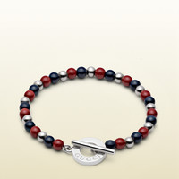 Gucci - silver bracelet with colored beads 341895J89K68192