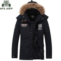 Afs Jeep Brand Down Parka White Duck Down Jacket Men Thick Winter Coats Casacos de Inverno Masculino Jaqueta Masculino Inverno