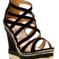 Black & Twill Summer Wedge *FINAL SALE!*