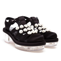 SIMONE ROCHA | Pearl Embellished Satin Sandals | Browns fashion & designer clothes & clothing