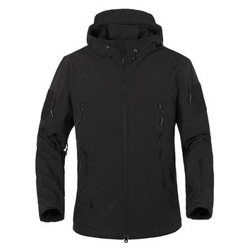Tactical Jacket men Soft Shell Waterproof Windproof Jacket Coat