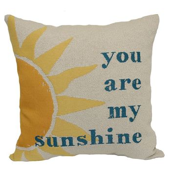 ''You Are My Sunshine'' Throw Pillow (Beige)