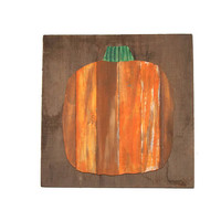 Rustic Wood Sign, Hand Painted Orange Pumpkin, Halloween, Fall Decor, November, Autumn, Barn Wood, October, Pallet Wood