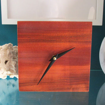 Desk Clock | Table Clock made with Exotic Osage Orange Wood from Argentina | Wood Clock | Minimalist Clock
