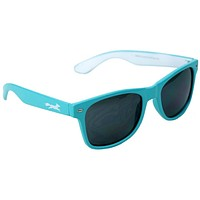 Sly Fox Two Tone Sunglasses in Teal and White by Country Club Prep
