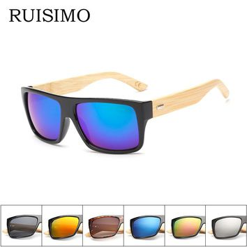 Bamboo Sunglasses for Men or Women Mirrored UV 400