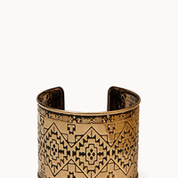 Etched Tribal Pattern Cuff