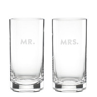 Kate Spade Darling Point Mr. And Mrs. Highball Set Clear ONE