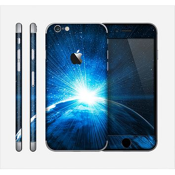 The Bright Blue Earth Light Flash Skin for the Apple iPhone 6
