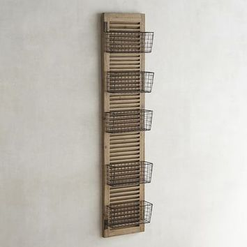 Westview 5 Basket Over the Door Organizer