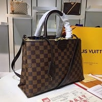 LV Louis Vuitton WOMEN'S Damier CANVAS Rivoli HANDBAG SHOULDER BAG