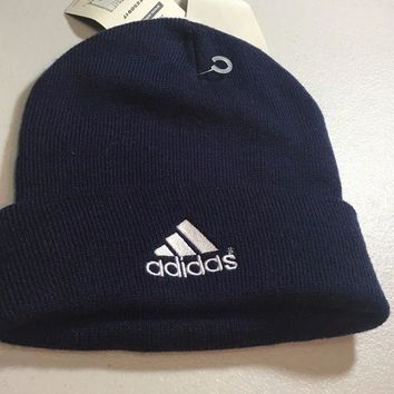 DCCKIHN BRAND NEW ADIDAS NAVY FLIP FRONT KNIT HAT SHIPPING