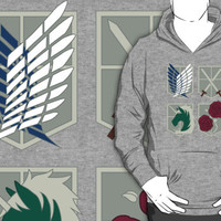 Attack on Titan Crests T-Shirts & Hoodies