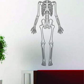 Skeleton Human School Class Design Decal Sticker Wall Vinyl Art Home Room Decor
