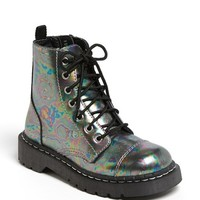 Women's T.U.K. 'Anarchic' Combat Boot, Size 6 M - Green