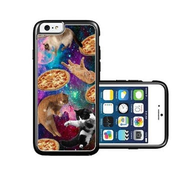 RCGrafix Brand Shawnex-SpringInk-Hipster-Cat-Flying-Pizza-Nebula-Space iPhone 6 Case - Fits NEW Apple iPhone 6