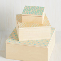 Dorm Decor This Storage is Just Right Keepsake Box Set by ModCloth